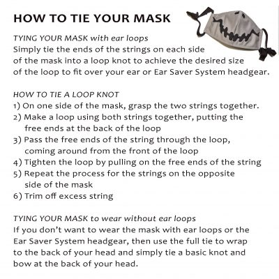 How to tie your mask