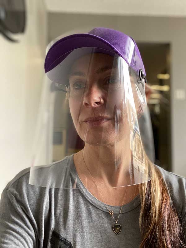 Violet ESS cap with Face Shield