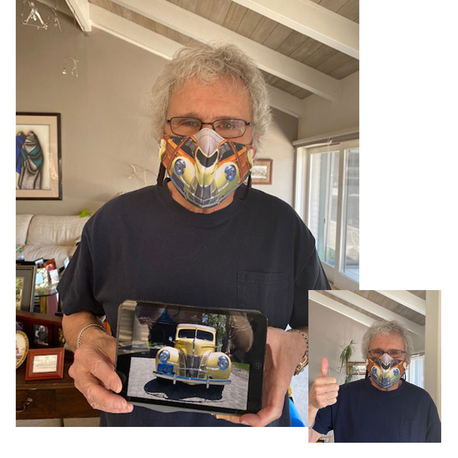 Peter Morse - 1940 Woodie Face Mask