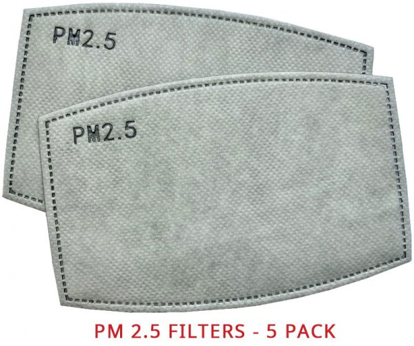 PM 2.5 Activated Carbon Mask Filter - Replaceable
